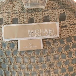 Michael Kors Tops - Michael Kors Knotted Crop Cardigan Sz S